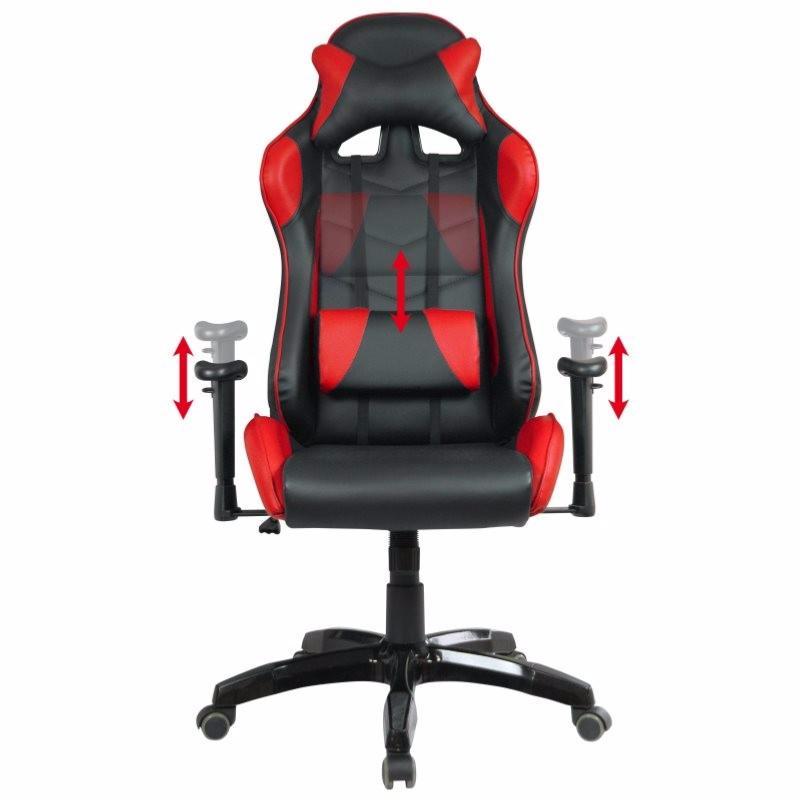 fauteuil de bureau baquet racing noir et rouge. Black Bedroom Furniture Sets. Home Design Ideas